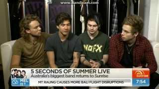 5 Seconds Of Summer (5SOS) Interview on Sunrise - August 4, 2015