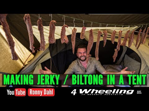 Making Beef Jerky / Biltong In A Tent