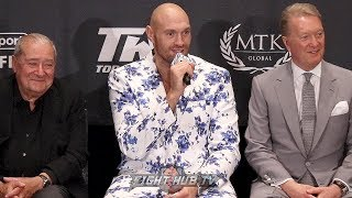 TYSON FURY SPEAKS ON KO OF SCHWARZ & REMATCHING DEONTAY WILDER IN HIS POST FIGHT PRESS CONFERENCE