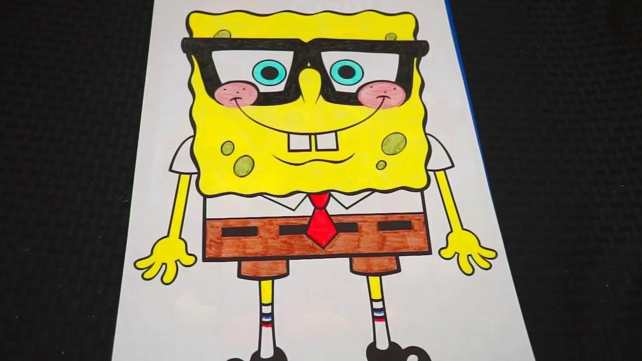 Coloring SpongeBob SquarePants