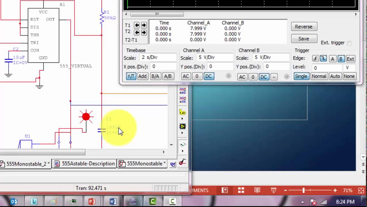 a very brief introduction to the 555 timer part 2 using multisim