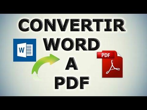 Como Convertir un Word a PDF sin ningun programa GRATIS 2015