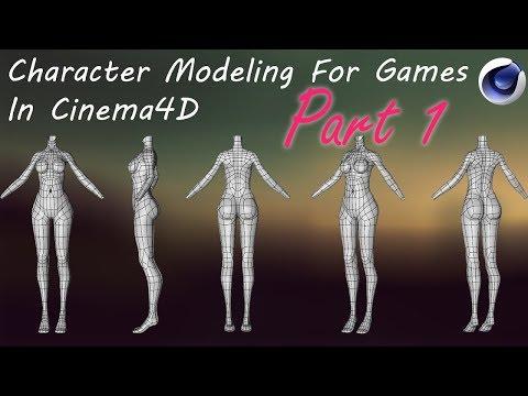 Character Modeling For Games | Female | part1 | CINEMA 4D