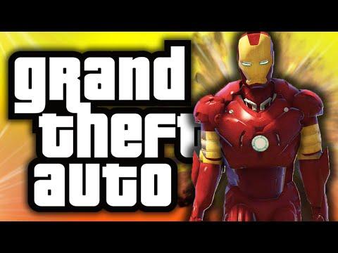 GTA 5: Iron Man in GTA! - (GTA 5 Mods Funny Moments)