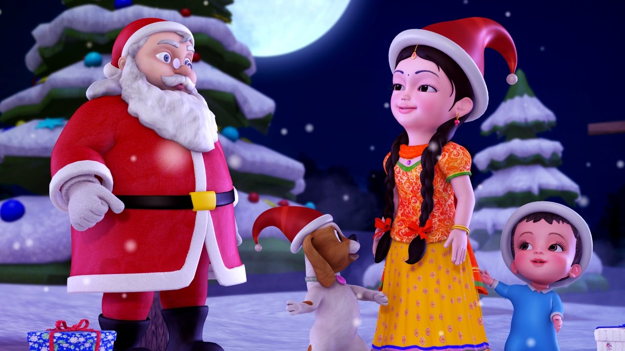 Jingle Bells Christmas Songs for Kids | Hindi Rhymes for Children ...