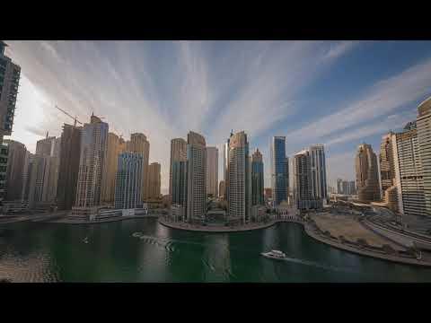Rotating Time Lapse Dubai Marina
