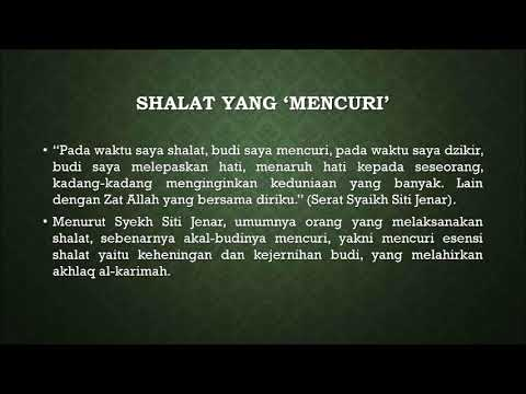 Sholatnya Para Waliyullah Menurut Syeikh Siti Jenar 5 Youtube