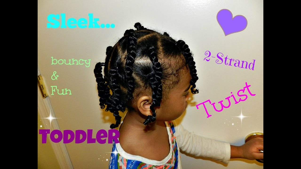 Natural Toddler Hair 2 Strand Twists Youtube