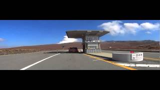 草千里から阿蘇山公園道路を走る