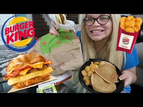 Burger King Breakfast MUKBANG (Eating Show) | WATCH ME EAT!