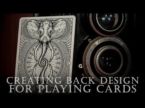 Creating back design for playing cards - YouTube