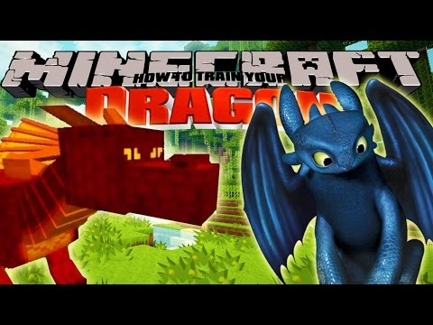 Minecraft  HOW TO TRAIN YOUR DRAGON  Ba Dragons 1