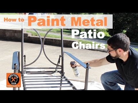 how to paint metal patio chairs by home repair tutor youtube. Black Bedroom Furniture Sets. Home Design Ideas