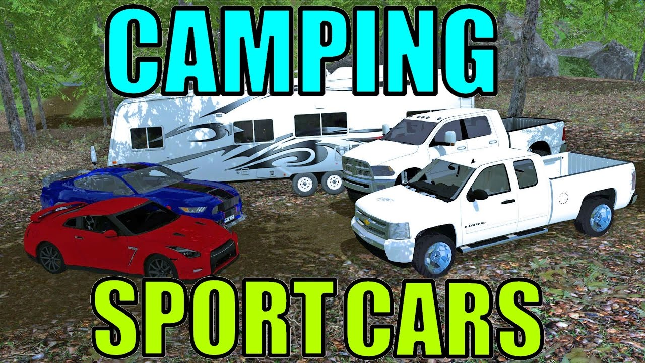 Gt Sport Farming >> Farming Simulator 15 - Camping In The Smoky Mountains - Sport Cars - GT-R - Shelby GT350 - YouTube