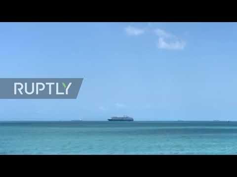 Cambodia: Cruise ship refused port over coronavirus fears anchors off Sihanoukville