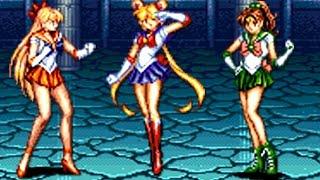 Sailor Moon (Arcade) All Bosses (No Damage)