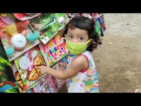 LOL MURAH MERIAH!!! || Beli Mainan Di Abang Penjual Mainan Keliling 😍