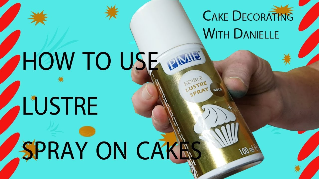 How to use lustre spray on cakes - part of the Toy Story Cake Tutorial  Series