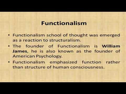 principles of functionalism psychology