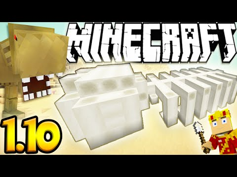 Minecraft 1.10 Snapshot: Fossil Excavation Archeology Dig! Lets Play Ep.1
