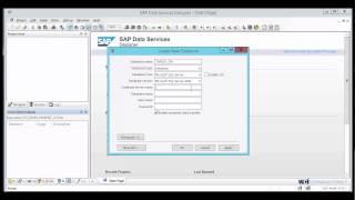إنشاء مخزن البيانات في البيانات SAP الخدمات