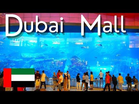 Dubai Mall World's largest Shopping Mall Walking Tour – United Arab Emirates 2019