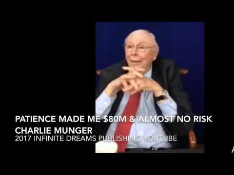 Patience made me $80m with Almost No Risk Cigar Butt - Charlie Munger Interview 2017