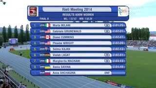 meeting di rieti 800m women Final B