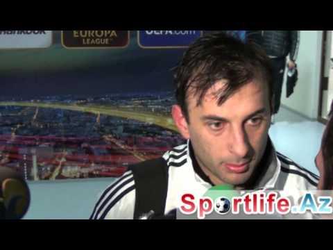Sportlife.az - Neftçi-Partizan - oyundan sonra İqor Mitreski