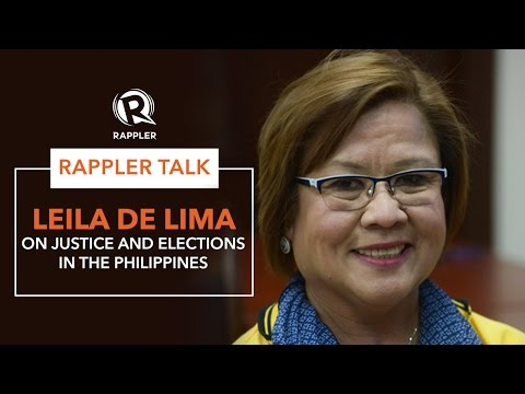 Rappler Talk: Leila de Lima on justice and elections in the Philippines