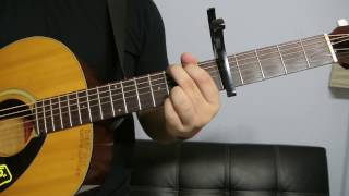 """Justin Bieber Ft. Jessica Jerrel - """"Overboard"""" How to Play Guitar (Easy!! Guitar Tutorial!!)"""