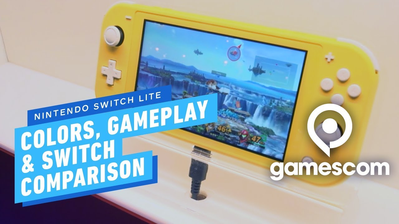 Nintendo Switch Lite Is Here All Colors Gameplay And Switch Comparison Gamescom 2019