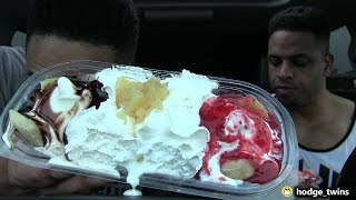 Eating Dairy Queen Banana Split @hodgetwins