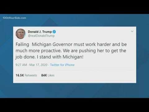 Trump slams Gov. Gretchen 'Half Whitmer' in new tweet over ...