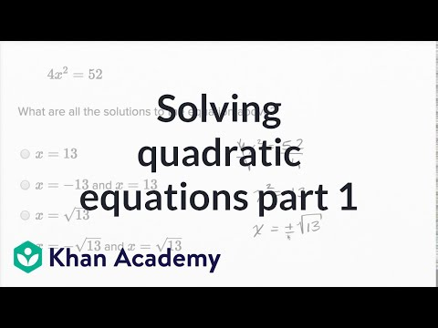 Solving Quadratic Equations — Basic Example | Math | New SAT | Khan Academy