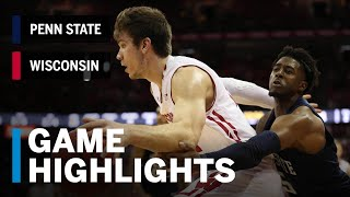 Highlights: Brevin Pritzl Scored 17 on 5-for-5 Shooting | Penn State vs. Wisconsin | March 2, 2019