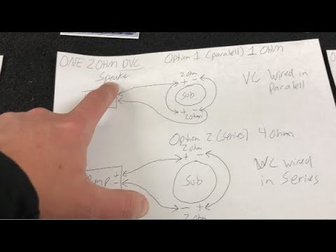 HOW TO - SINGLE SUB DUAL VOICE COIL WIRING  Ohm Dual Voice Coil Wiring Diagram on