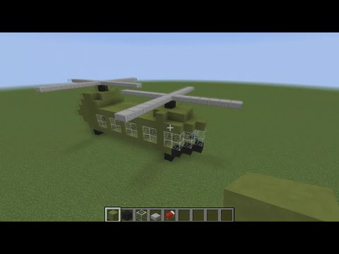 how to make a helicopter in minecraft with command blocks