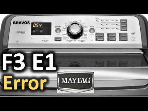 washer f3 e1 error maytag code washing load machine e2 bravos f2 f1 e5 f0