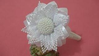 Pérola Craquelada, Miolo craquelado para flores, de pérolas com fuxico cheio