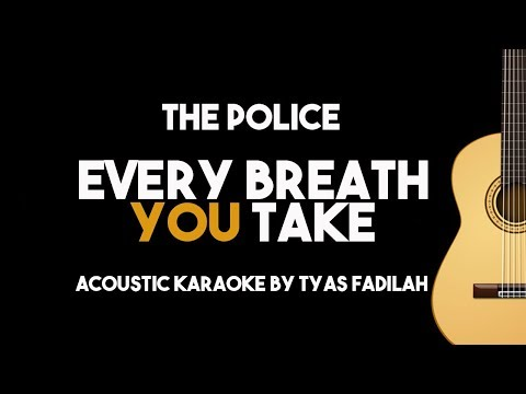 Every Breath You Take -The Police (Acousic Guitar Karaoke Backing Track with Lyrics)