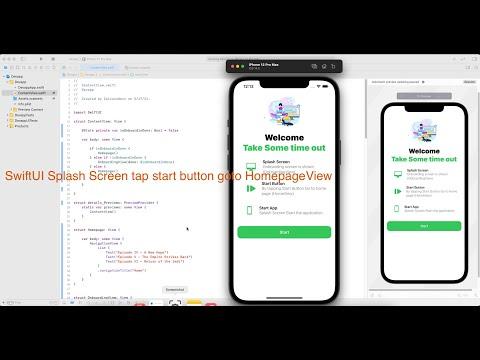 SwiftUI Splash Screen tap start button goto HomepageView