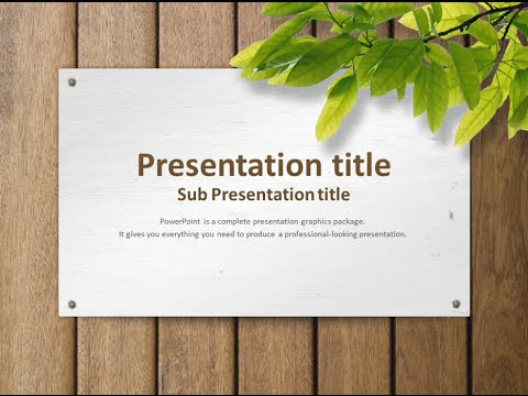 nature animated ppt template - YouTube