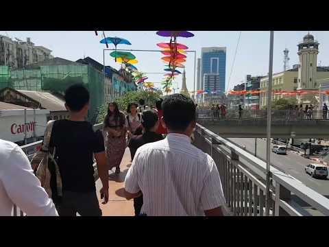 Myanmar Yangon Sule streets