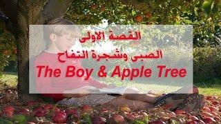 قصص انجليزية مترجمة - الصبى وشجرة التفاح