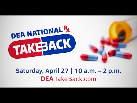 Curt Williams - DEA National Take Back Day Is This Saturday