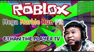 Roblox Mega Marble Run Pit - Ethan The Player TV
