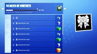 The FREE CHRISTMAS REWARDS in Fortnite! (14 Days Of Fortnite Challenges)