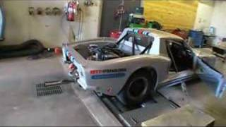 DWL Race car in dyno