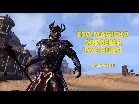 ESO - Magicka Sorcerer PVE Build - EASY MODE! (one Tamriel)
